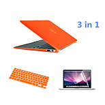 Crystal 3 in 1 Full Body Case with Keyboard Flim and HD Screen Protector for Macbook Air 11.6