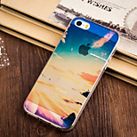 Different Coloar Cloud Pattern TPU Soft Case for iPhone 5/5S