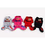 Red/Black/Gray/Rose Fashion Pet Clothes Cotton Hoodies For Dogs
