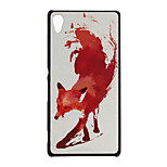 Red Fox Pattern PC Material Phone Case for Sony Z4