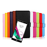 Plain Leather Wallet with Stand Protective Sleeve for LG  G4(Assorted Colors)