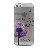 Purple Dandelion Pattern Ultrathin Hard Back Cover Case for iPhone 5/5S