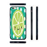 Cartoon Lemon Pattern Transparent Silica Gel Edge Back Case for iPhone 6