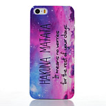 Purple Pattern Transparent Frosted PC Material Phone Case for iPhone 5/5S