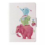 Elephant Pattern Leather Full Body Case with Stand for Amazon Kindle Paperwhite / Kindle Paperwhite 2