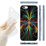 Colorful Leaves Pattern TPU Soft Back Case for iPhone 6