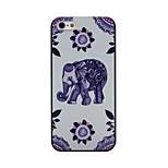 padrão elefante caso de telefone PC material preto fosco para iPhone 5 / 5s