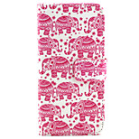 Elephant Pattern PU Leather Case with Magnetic Snap and Card Slot for iPhone 6