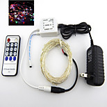 Dc12v 16.5FT 50 Leds US Fairy String Lights Christmas Wedding Party Xmas Decoration and 14key Ir and Power RGB