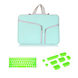 Top Selling  Zipper Sleeve bag with Keyboard Cover and Silicone Dust Plug for Macbook Air 13.3