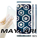 MAYCARI®Black and White Hexagon Pattern Transparent TPU Soft Back Case for iPhone 6