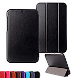 Solid Colors Luxury Leather 3 Floding Flip Full Body Stand Cases for HP Stream 8 (Assorted Colors)