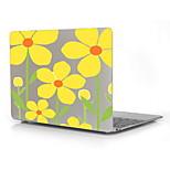 gelbe Blumen-Design Druckmuster Hartschalenetui für 12