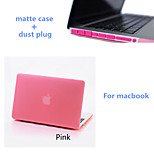 Solid Colors Matte Full Body Hard Case with Dust Plug for Macbook Retina 13.3