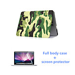 Fashion Camouflage Full Body Case with HD Screen Protector for Macbook Pro 13.3