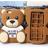 diseño del oso lindo material de silicona para el iphone 5 / 5s