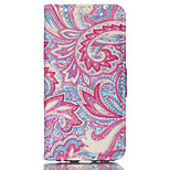 Decorative Flowers Pattern PU Material Card Sided Bracket Full Body Case for iPhone 6