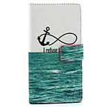 Sea ship anchor  Design PU Leather Full Body Case with Stand for Sony Xperia M2