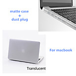 Solid Colors Matte Full Body Hard Case with Silicone Dust Plug for Macbook Pro 15.4