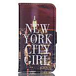 City Pattern PU Material Card Sided Bracket Full Body Case for Samsung GALAXY S6 / S6 edge/ S5/S3Mini/S4Mini/S5Mini