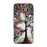 barevné strom vzor pc materiál telefon pouzdro pro Samsung Galaxy s6 s6 hraně