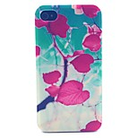 Red Leaves Pattern PC Material Phone Case for iPhone 4/4S