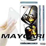 Ice Whisky Glasses Pattern Transparent TPU Soft Back Case for iPhone 6