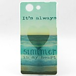 Sea Pattern TPU Material Soft Phone Case for Sony Z3 Mini