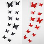 12pcs 3d adesivos de parede borboleta arte decalques
