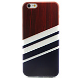 Three Swatches Pattern TPU Painted Soft Back Cover for iPhone 6/6S