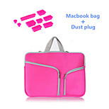 High Quality Handle Zipper Sleeve bag with Silicone Dust Plug for Macbook Pro 15.4