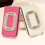 Crocodile Grain Square Buckle Diamond Up-down Turn Over PU Leather Full Body Case for iPhone4/4S (Assorted Color)