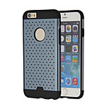 2 in 1 Metal Plate Punching Thermal Design Shockproof Protective Back Case for iPhone 6 (Assorted Color)