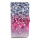 Snow Falls Pattern PU Leather Phone Holster For iPhone 5/5S