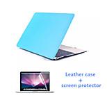 lujo pu estuche de cuero y protector de pantalla hd para el macbook pro 13.3 pulgadas (colores surtidos)