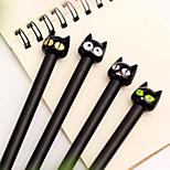 Cartoon Black Cat Black Ink Gel Pen(1 PCS)