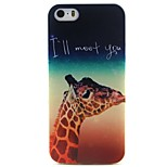 Giraffe Pattern TPU Material Soft Phone Case for iPhone 5/5S