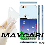 MAYCARI®Fishing Mario Pattern TPU Soft Transparent Back Case for iPhone 6