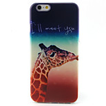 Giraffe Pattern TPU Painted Soft Back Cover for iPhone 6