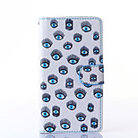 Blue Eyes Pattern PU Leather Full Body Case with Stand for Multiple Sony Xperia Z3/T3
