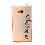 patrón de la sonrisa caja del teléfono de TPU para Nokia Lumia 640 microsoft