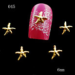 10pcs/lot 3D Design Lovely Golden Star Shape 3D Alloy Nail Art Decoration Accessories
