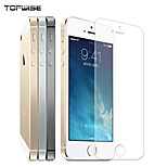 TOPWISE® Tempered Glass Screen Protector for iPhone5s   9H Hardness Anti-Scratch Washable