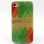 geschilderd patroon TPU materiaal soft phone case voor de iPhone 4 / 4s