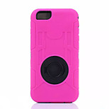 Newest Ring Pattern Silicone and PC Back Case with Stand for Iphone 6 Plus(Assorted Color)