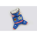 Blue Pet Clothes Cotton Hoodies For Dogs
