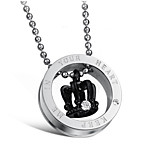 Couples Round Diamond Crown Necklace(Assorted Colors)