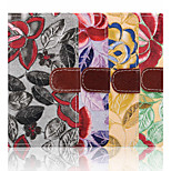 4.6 Inch Embroidery Pattern Canvas Wallet Leather Case with Stand for SONY Z4 mini(Assorted Colors)