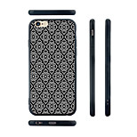 White and Black Rhombus Pattern Silica Gel Edge Back Case for iPhone 6/6S