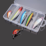 Hard Baits Minnow Crankbait VIB Popper Plencil Fishing Lure Set (5pcs)